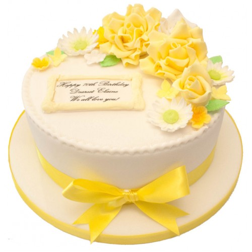 Spring Rose Birthday Cake