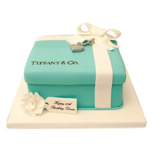 Cool Tiffany Box Locket Birthday Cake Funny Birthday Cards Online Kookostrdamsfinfo