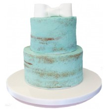 Tiffany Inspired Naked Cake