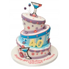Topsy Turvy 40th Birthday Cake