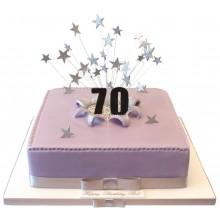70th Large Square Birthday Cake