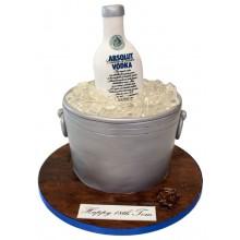 Absolut Vodka Birthday Cake