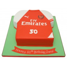 Arsenal Shirt Birthday Cake