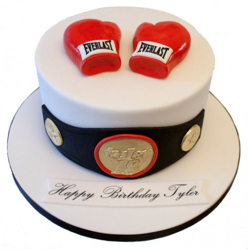 Magnificent Boxing Birthday Cake Funny Birthday Cards Online Alyptdamsfinfo