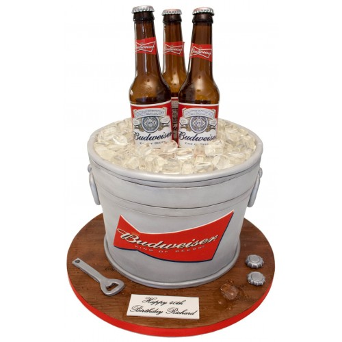 Excellent Budweiser Birthday Cake Funny Birthday Cards Online Elaedamsfinfo