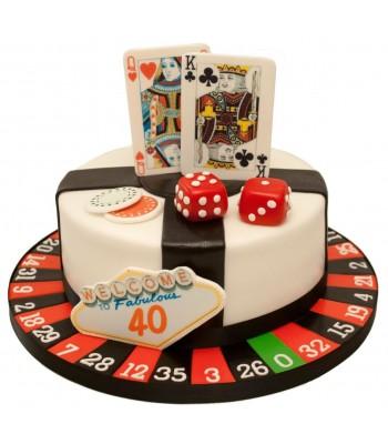 Super Casino 40Th Birthday Cake Funny Birthday Cards Online Unhofree Goldxyz