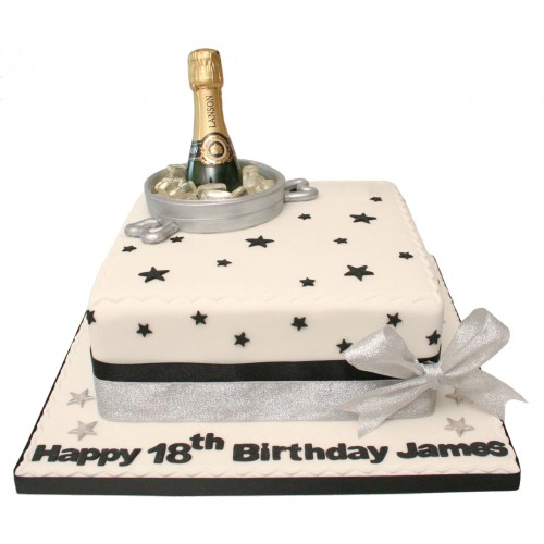 Champagne Bottle Birthday Cake