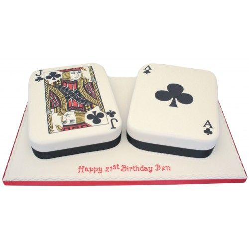 Deck Of Cards Birthday Cake