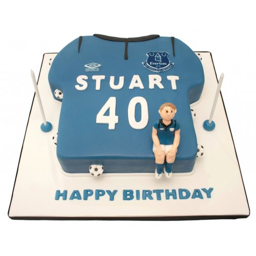 Everton Football Shirt Birthday Cake