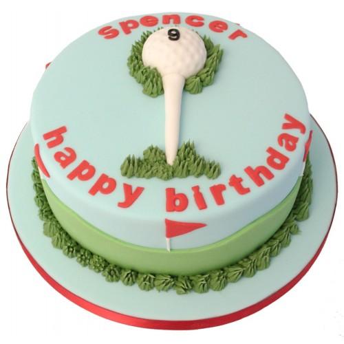 Strange Golf Ball Birthday Cake Personalised Birthday Cards Arneslily Jamesorg