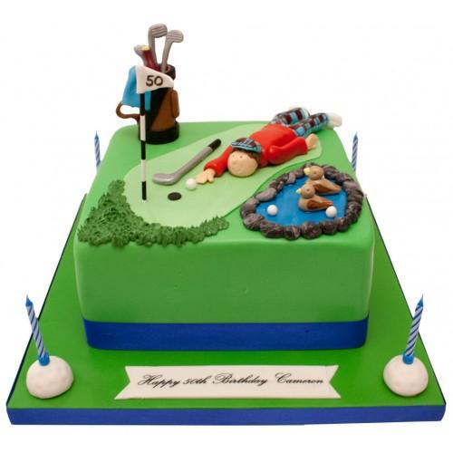 Astonishing Golf Course Birthday Cake Funny Birthday Cards Online Alyptdamsfinfo