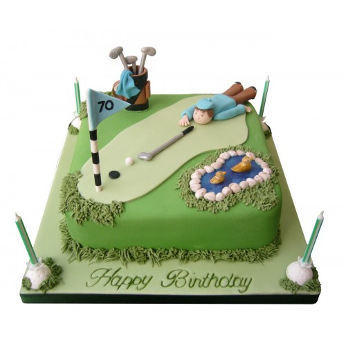 Golfer Birthday Cake