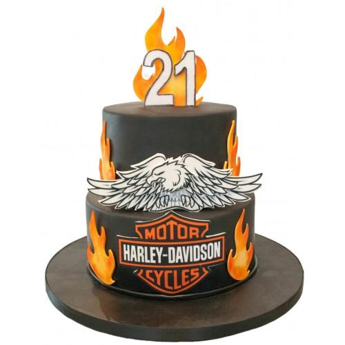 Marvelous Harley Davison Birthday Cake Funny Birthday Cards Online Fluifree Goldxyz