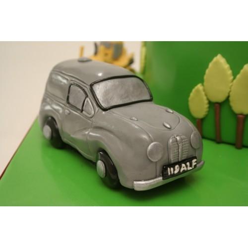 Austin Somerset Decoration Birthday Cake Model Car Green