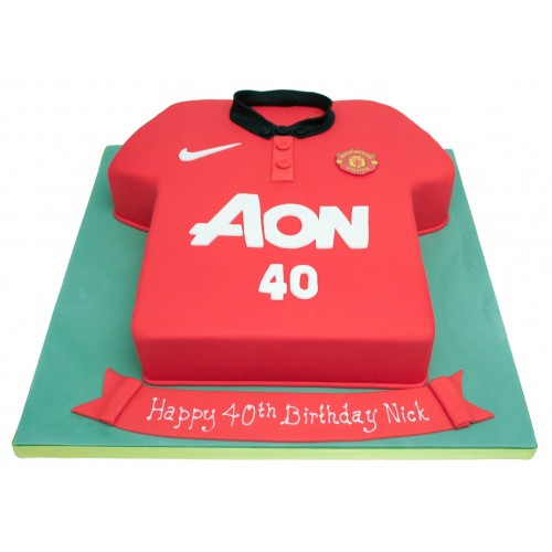 Prime Manchester United Football Shirt Birthday Cake Birthday Cards Printable Nowaargucafe Filternl