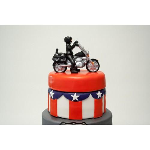 Route 66 Motorbike Birthday Cake