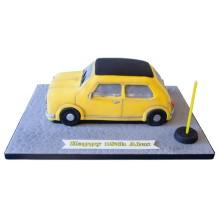 Yellow Mini Birthday Cake