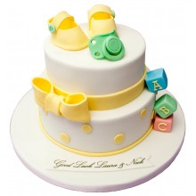 ABC Christening Cake