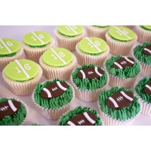 American Football Cupcakes
