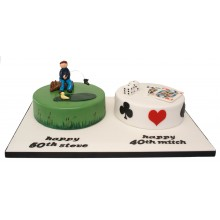 50 and 40 Joint Numbers Cake