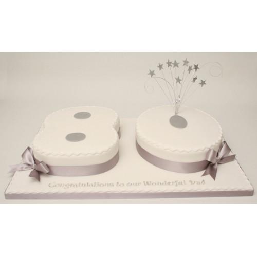 80th Birthday Numbers Cake