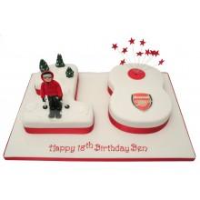 Arsenal 18 Numbers Cake