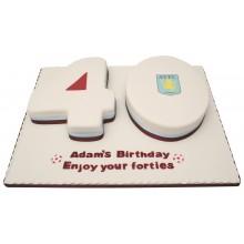 Aston Villa 40th Numbers Cake
