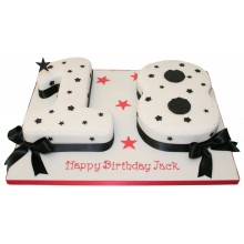 Birthday 18 Numbers Cake