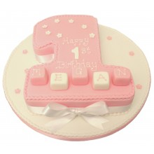 Birthday Blocks 1 Numbers Cake