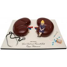 Kidneys Retirement Cake