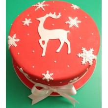 Red Reindeer Xmas Cake