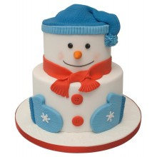 Snowman 2 Tier Christmas Cake