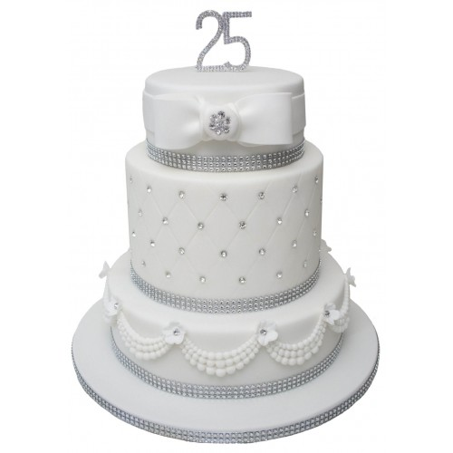 Silver Wedding Cake Toppers Uk