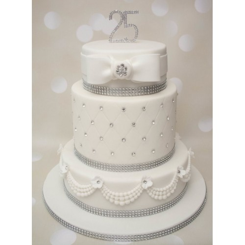 top tier wedding cake anniversary 3 tier silver wedding anniversary cake 21073