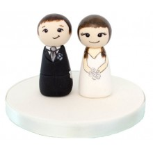 Custom Bride and Groom Peg Toppers