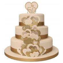 Heart Golden Wedding Anniversary