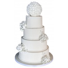 Hydrangea Ball Wedding Cake
