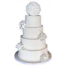 Hydrangea Ball Wedding Cake