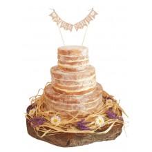 Naked Wedding Cake No Fruits