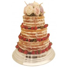 Naked Fresh Fruit Wedding Cake