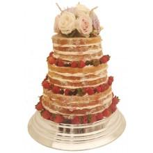 Naked Fresh Fruit Wedding Cake