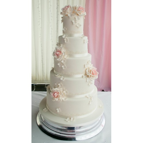 5 tier wedding cake with roses pink 5 tier wedding cake 10480