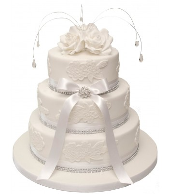 three tier wedding cakes with roses wedding cakes 20951